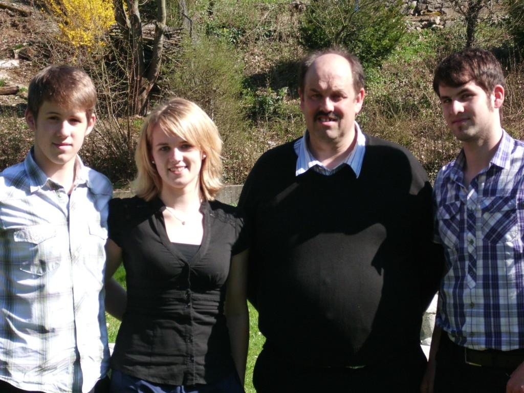 von links: Andreas Brosi, Martina Brosi, Werner Brosi, Thomas Brosi